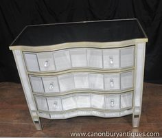 Photo of Art Deco Mirrored Chest Drawers Serpentine Commode Mirrored Furniture, Vintage Furniture, Furniture Decor, Mirror Chest Of Drawers, Art Deco Mirror, Light And Space, Wood Trim, Art Deco Fashion, Modern Interior