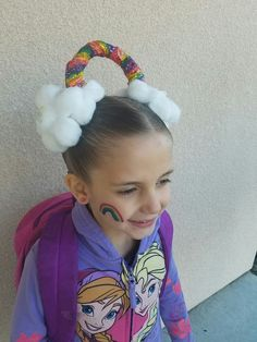 20 Crazy Hair Day Ideas for Girls - - Our collection of crazy hair day ideas includes everything from the cool to the creepy, as well as the tried-and-true styles that kids love. Crazy Hat Day, Crazy Hair Day Girls, Crazy Hair For Kids, Crazy Hair Day At School, Days For Girls, Little Girls, School Hair, Funky Hairstyles, Little Girl Hairstyles