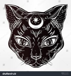 New cat tattoo traditional ideas Tattoo Chat, Tattoo Bein, Egyptian Cat Tattoos, Egyptian Cats, Traditional Tattoo, Traditional Art, Arte Alien, Black Cat Tattoos, Witch Tattoo