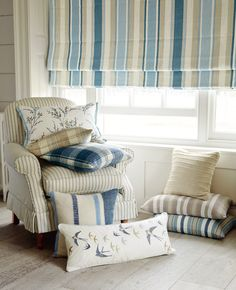 Laura Ashley Spring/Summer 2015: Casual Country  Love the bird pillow  IDEA…