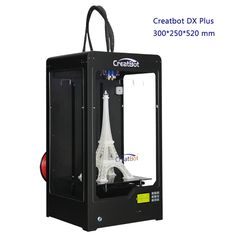 2015 Newest Black Color Large 3d printer double extruder printer 3d famous creatbot brand impressora 3d