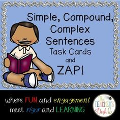 Task cards are popular in many elementary and middle school classrooms. Easily adapted to any content area and grade level, task cards make for a welcome change from just completing a worksheet for skill practice. These 24 task cards (22 skill cards and two ZAP cards) may be used in a literacy center, as part of a scavenger
