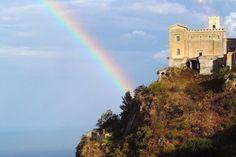 Savoca (ME) - La chiesa di Santa Lucia sospesa tra cielo e mare   da Lorenzo Sturiale