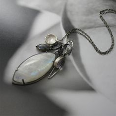 Elisabeth Collection: Moonstone Charm Necklace | Flickr - Photo Sharing!