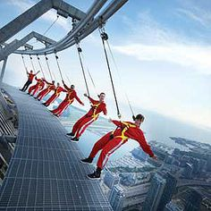 Hang Over the Edge of Canada's Tallest Structure, Toronto, Ontario