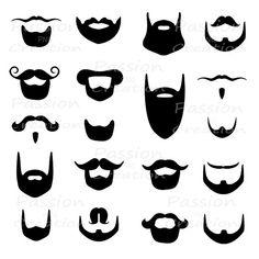 Digital beard clip art clipart Beard by PassionPNGcreation Beard Clipart, Beard Silhouette, Clip Art, Retro Party, 3d Prints, Photo Booth Props, Art Boards, Scrapbooking, Art Lessons