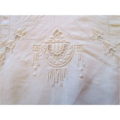 Italian Linen Tablecloth,12 Napkins Hand Embroidered Offered by Ruby Lane Shop The Old Stone Mansion