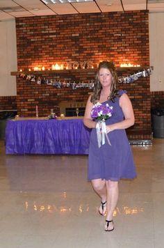 Bridesmaid walking down