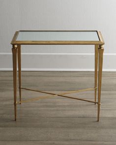 """2nd Floor / In The Cherise Family - Living Room / """"Reydon"""" Side Table at Horchow."""