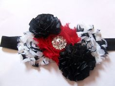 A special request. Shabby flowers with ribbon flowers embellished with bling.