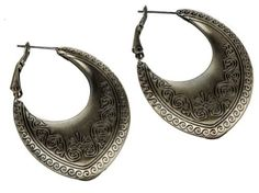 Woman's Antique Brass Tibetan Tribal Design Earrings Shagwear. $12.99. Lightweight design allows for maximum comfort. Fishhook backing. 2.0 IN length. Add this stunning accent to your jewelry collection!. Base Metal. Save 28%!