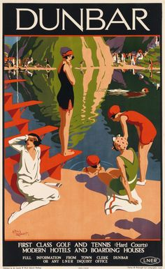 Art Deco Posters, Vintage Travel Posters, Posters Uk, Train Posters, Vintage Advertisements, Vintage Ads, Vintage Advertising Posters, British Travel, Travel Ads
