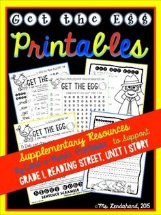 GET THE EGG Supplementary Companion  PackIf you don't have the original GET THE EGG Teacher Pack...you may want to check this out. Also, remember to get the BUILD-A-WORD RTI Lesson (but I teach this whole group with my firsties!)This supplements the original TEACHER PACK with SIGHT WORD practice sheets in the form of 5 WORD SEARCHES and 3 FILL-in-the-BLANK practice sheets.