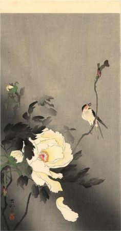 Swallow with Peony - Ohara Koson