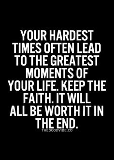This is a tough one when your standing in the middle of hell....but keep it in the back of your mind and one day....