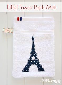 Make a baby bath mitt using our easy sewing tutorial www.aspoonfulofsugardesigns.com