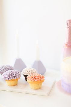 My 3rd Blogiversary + 10 Things I Learned in my Third Year of Blogging | Lavender and Blush Garden Cupcakes | A Pantone Spring 2018 Inspired Birthday Celebration // JustineCelina.com Garden Cupcakes, Mini Cupcakes, Green Eyes Pop, Bite Beauty Amuse Bouche, Soft Corals, Color Of The Year, Birthday Celebration, Color Trends, Pantone