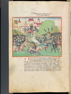 Bern, Burgerbibliothek, Mss.h.h.I.1, f. 218 – Diebold Schilling, Amtliche Berner Chronik, vol. 1