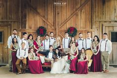 Vintage winter wedding party (photo by Trisha Kay Photography)