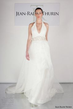 jean ralph thurin #bridal spring 2015 royce halter neck ball gown #wedding dress #weddings #weddingdresses