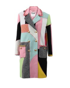 Moschino Patchwork Tweed Coat, $3,395, available at Marissa Collections..