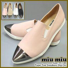 4621 Miu Miu Toe Sneakers 315rb Pink 35 c2758c801f