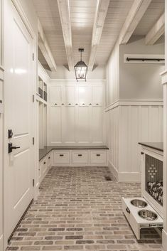 50 Amazing Laundry Room Tile Design Laundry rooms used to be the neglected room in the house. Find a closet or another room large enough for […] Mudroom Laundry Room, Laundry Room Design, Laundry Room Floors, Laundry Area, Casa Magnolia, Brick Flooring, Brick Tile Floor, Brick Floor Kitchen, Brick Look Tile