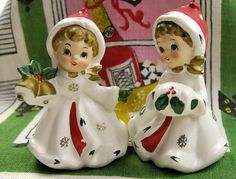 Christmas Napcoware Pair Girls Muff and Bells by PlumsandHoney, $32.50