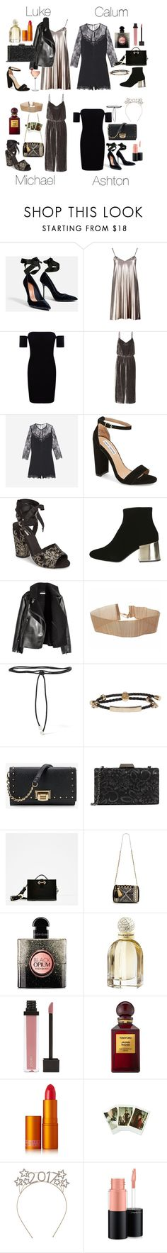 """NYE Outfits"" by fivesecondsofinspiration ❤ liked on Polyvore featuring Boohoo, Madewell, Steve Madden, Topshop, Aamaya by Priyanka, Alexander McQueen, White House Black Market, Sondra Roberts, Miss Selfridge and Yves Saint Laurent"