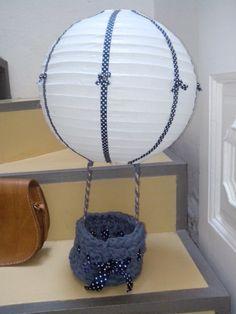 Globo aerostatico regalo bebe #crochet #regalosoriginales