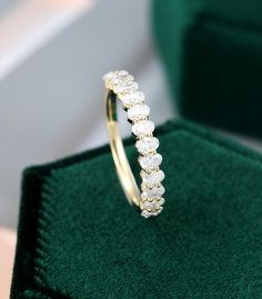 ITEM DESCRIPTION✦ Handmade, high-quality item! ✦ Material: SOLID 14K/18K GOLD (can be made in white/rose/yellow gold)Moissanite wedding band✦ Side Stone size: 2*3mm*13 (D-E) 0.8ct✦Width of the gold band  1.4mmPRODUCTIONWe are jewelry artisans and manufacturers. Every Jewelry is made from the very scratch, and made by hand and carefully polished especially for you.RETURNSYes, if circumstances changed or you for some reason were not 100% satisfied with your purchase just contact me within 14 days Matching Wedding Bands, Wedding Ring Bands, Rose Gold Engagement Ring, Vintage Engagement Rings, Wedding Band Engraving, Eternity Bands, Gold Bands, Wedding Ideas, Wedding Decor