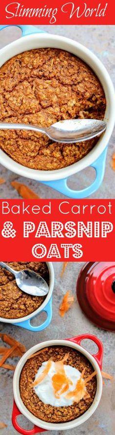 Slimming World Baked Carrot & Parsnip Oats - Tastefully Vikkie