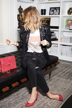 It's not a party without an oh-so stylish sequin jacket.