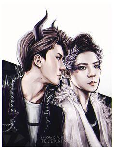 Sehun Fanart Exo, Sehun And Luhan, Hunhan, Chinese Boy, Kpop Fanart, Fantastic Art, People Around The World, Nct Dream, Boy Bands
