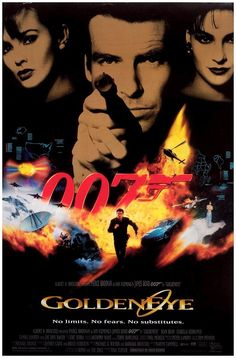 17. James Bond: Goldeneye (1995) 007 played by: Pierce Brosnan Bond Girl: Famke Janssen (Xenia Zirgavna Onatopp) Directed by: Martin Campbell Filming budget: $60,000,000 Time between this and previous release: 6 years