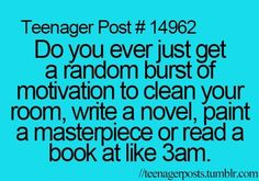 Yup you have no idea how many unfinished novel ideas are stored on my computer or in a journal somewhere.