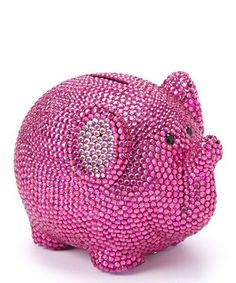 Loving this Fuchsia Crystal Elephant Bank on #zulily! #zulilyfinds