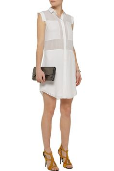 T by Alexander WangPaneled silk-chiffon dress
