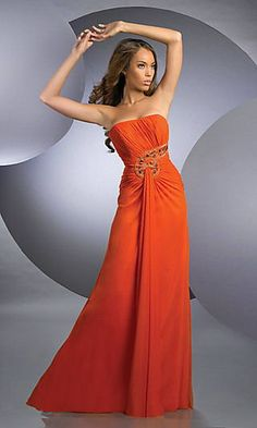 Love This For A Autumn Wedding Lovely Burnt Orange Bridesmaid Dress With Shirred Strapless Bodice