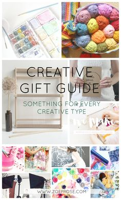 Get some shopping inspiration for getting gifts this season for the creatives in your life.