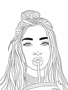 Search for Trending Stickers on PicsArt - ▪I can hear your whispers in my mind▪ Das schönst - Tumblr Outline Drawings, Tumblr Girl Drawing, Girl Drawing Sketches, Doodle Art Drawing, Girly Drawings, Cool Art Drawings, Easy Drawings, Hipster Girl Drawing, Drawing Girls