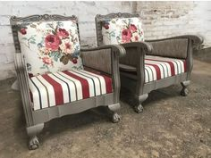 Decor, Furniture, Patio Chairs, Screened Porch Decorating, Painted Furniture, Revamp Furniture, Furniture Upholstery, Farmhouse Style Living Room, Upholstery