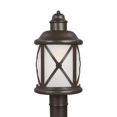 Lakeview 1-Light Outdoor Antique Bronze Post Light