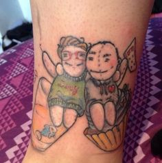 Mom and Dad at Their Cutest ... total love for this tattoo idea