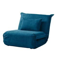 Slaapfauteuil Jake microvezel - Briljant blauw - Home 24
