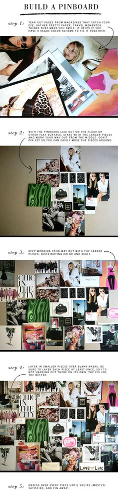 build an inspiration pinboard in 5 steps
