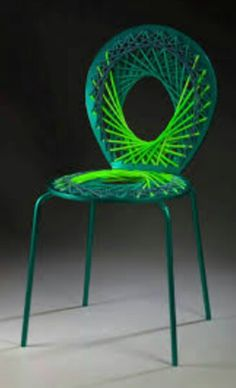 Bright Colored Vivid Chairs   Stretch By Jessica Carnevale   DigsDigs.  Pictures Gallery