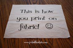 Polish The Stars: How To: Print On Fabric