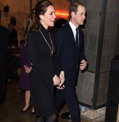 Top! Herzogin Kate im schicken, schwarzen Kleid von Seraphine