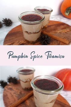 Pumpkin Spice Tiramisu im Glas - Paradieschen Pumpkin Spice, Spices, Breakfast, Tableware, Blog, Pie, Vegetarian Recipes, Vegan Recipes, Asian Food Recipes